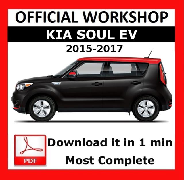 official workshop manual service repair kia soul ev 2015 2017 ebay rh ebay co uk Kia Sorento Service Manual PDF Kia Sorento Service Manual PDF