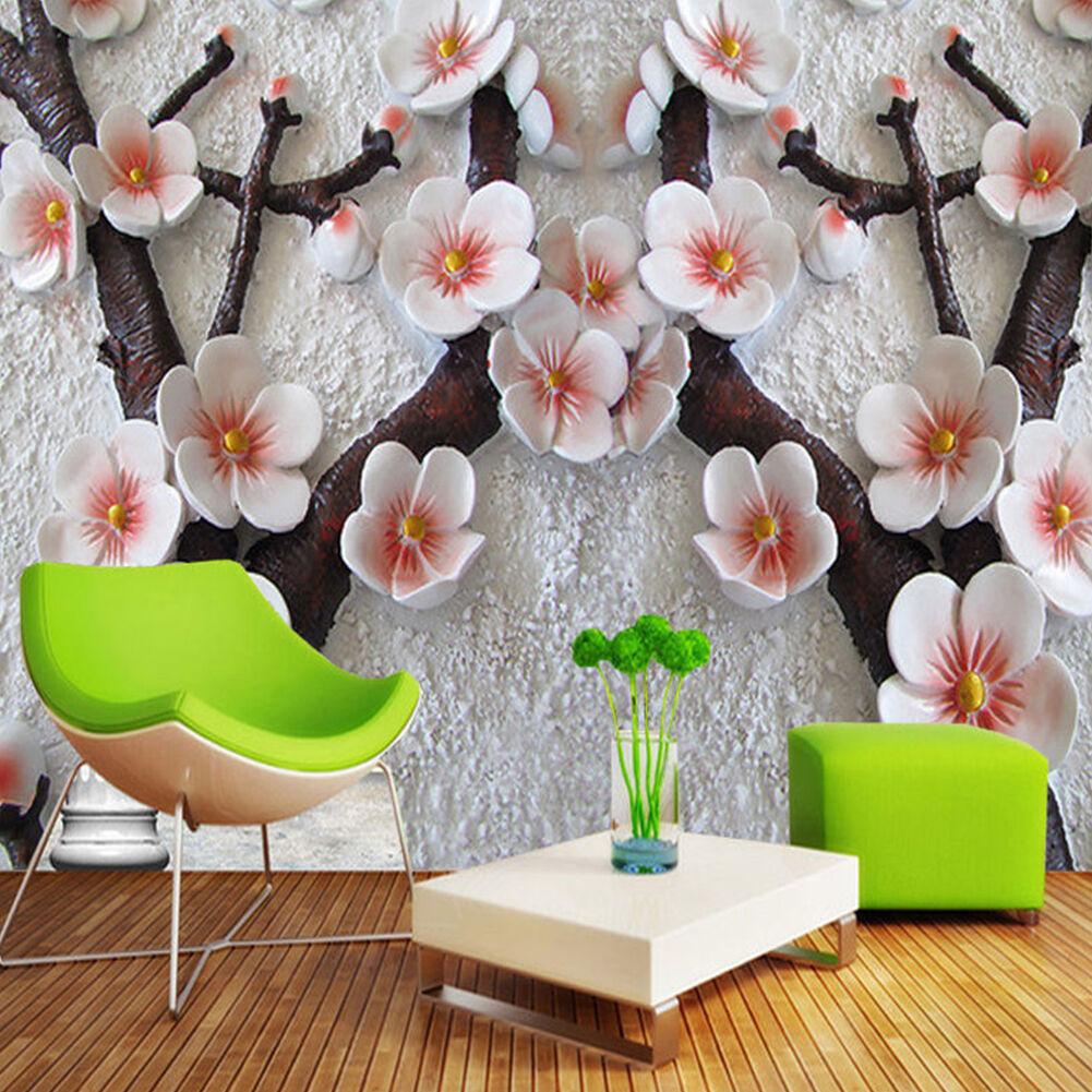 3d Wallpaper Bedroom Mural Roll Modern Luxury Embossed Flower Wall