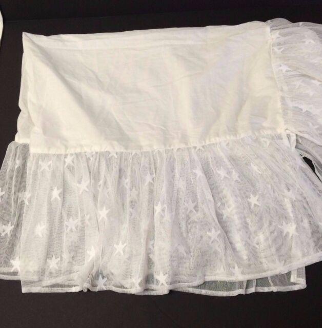 Wendy Bellissimo Starlight Lace Overlay Crib Skirt For Honey Bee Nursery Decor