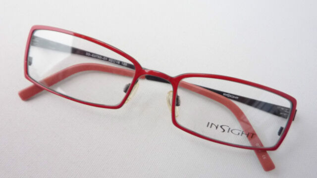 Red-black Glasses Frames Ladies Frame Narrow Metal Occhiali Insight ...