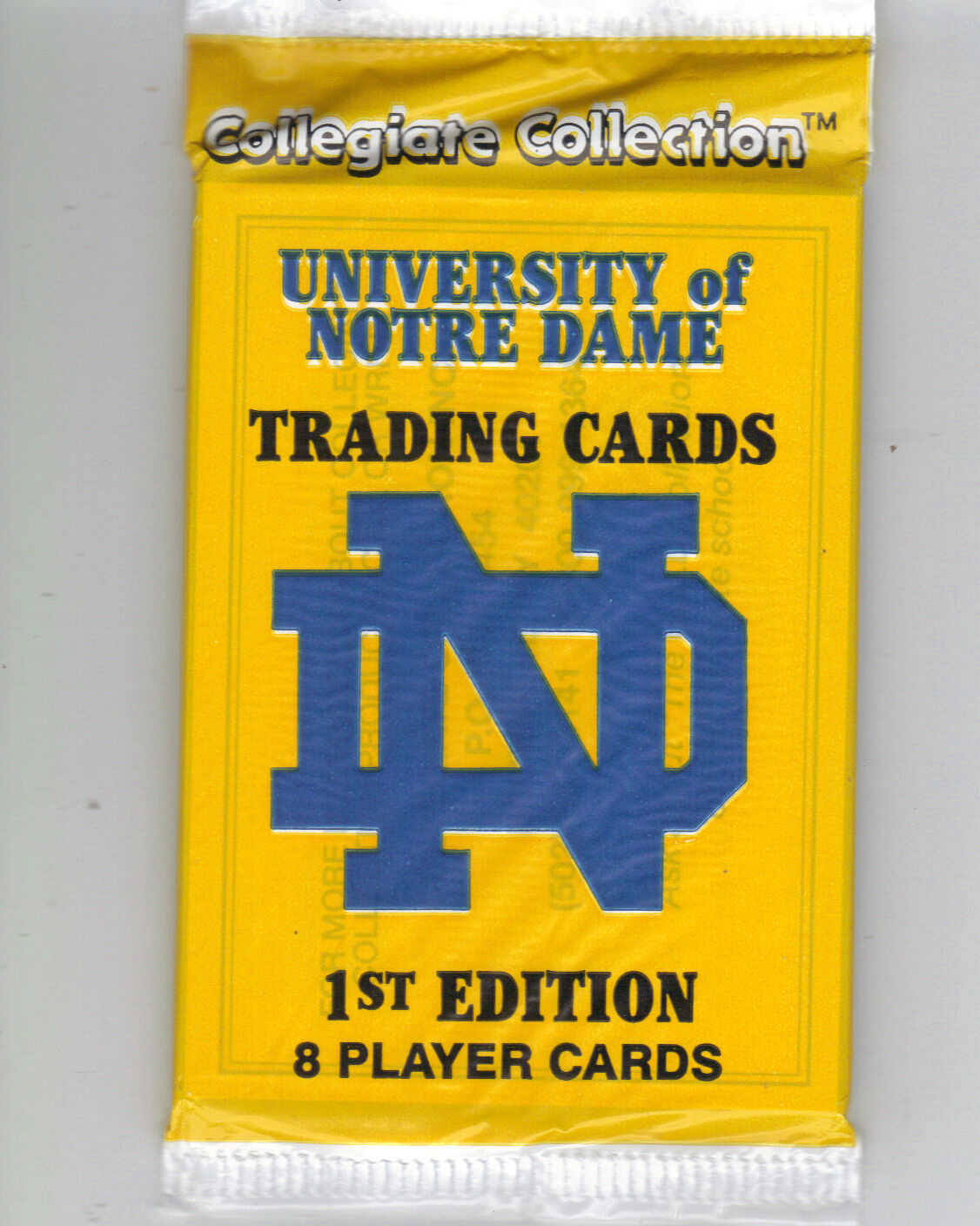 Collegiate Collection University of Notre Dame Trading Cards 1st ...