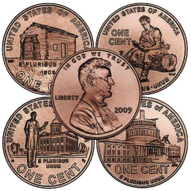 Complete Set Lincoln 2009 Cent Penny P Amp D Mint 8 Coins