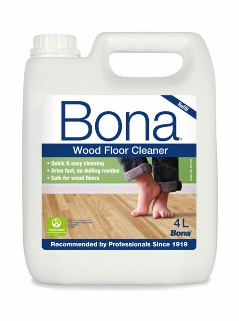 Bona Wood Floor Cleaner Refill 4L for use with Spray Mop