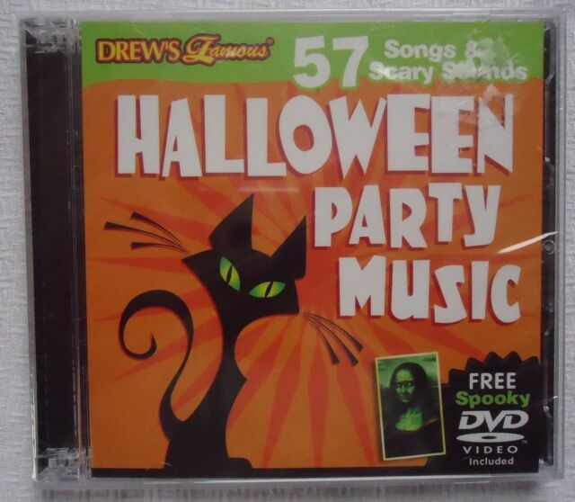 Halloween Party Music - 57 Songs & Scary Sounds CD Virtual Haunted ...