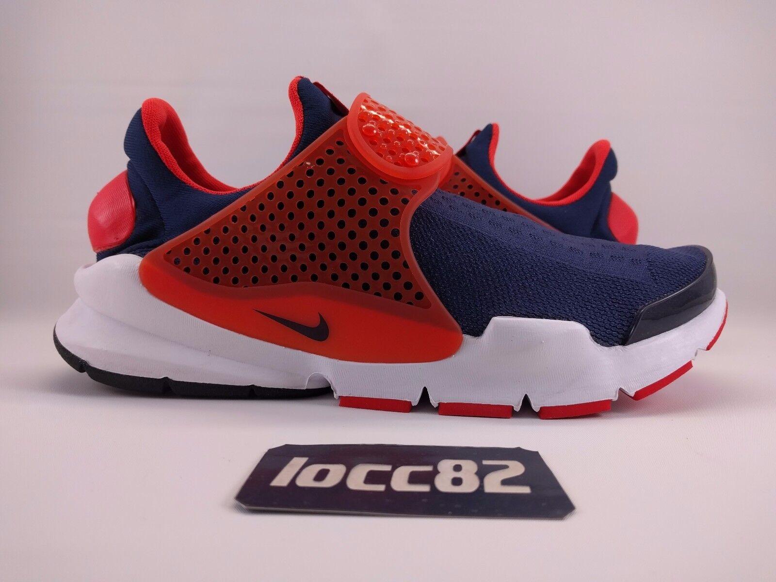 Nike Men's Sock Dart KJCRD Midnight Navy Orange sz 8 (819686-402) racer flyknit