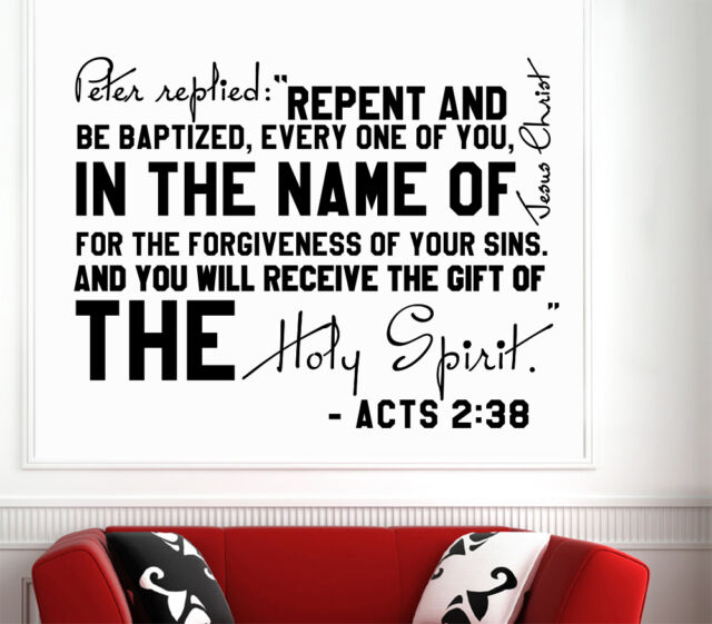 Wall Decal Bible Verses Psalms Acts 238 Peter Replied Vinyl Sticker DA3631