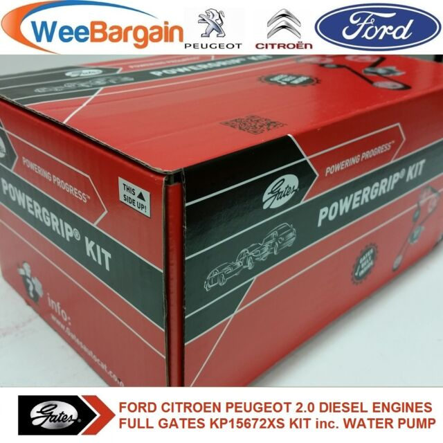 FORD PEUGEOT CITROEN 2.0 TDCI HDI GATES KP15672XS Timing Belt Kit & Water Pump