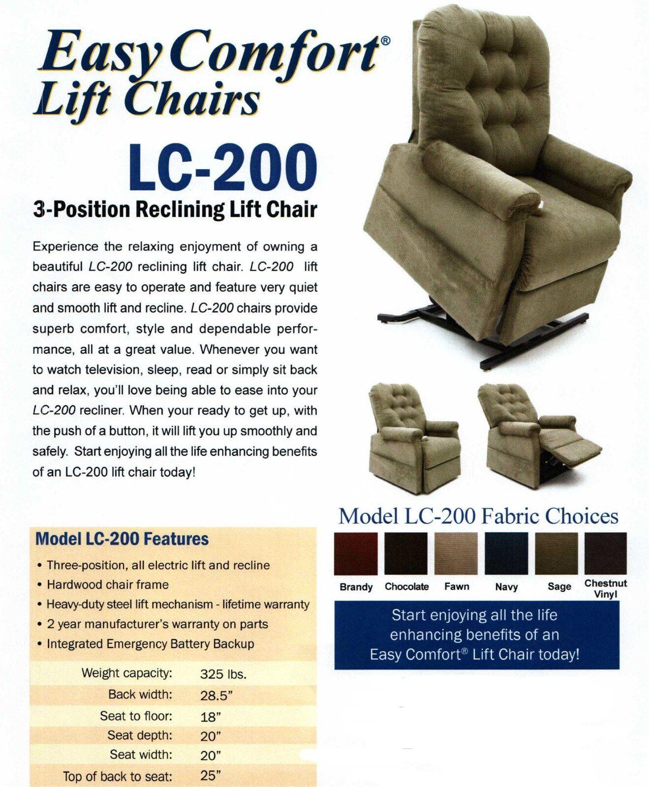Genial Easy Comfort Lc 200 Reclining Lift Chair Wayne 3 Position Mega Motion  Recliner | EBay