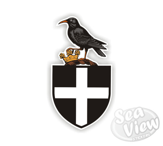 Cornish Chough Sticker Bird Chuff St Piran Flag Kernow Car Decal