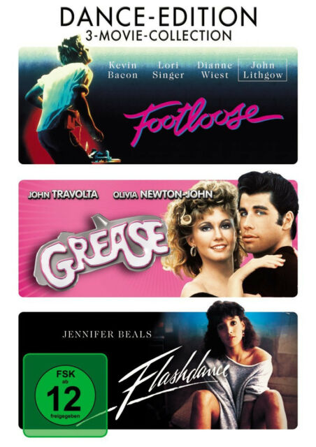 3 MOVIE COLLECTION * GREASE / FLASHDANCE / FOOTLOOSE - DANCE EDITION # NEU OVP +