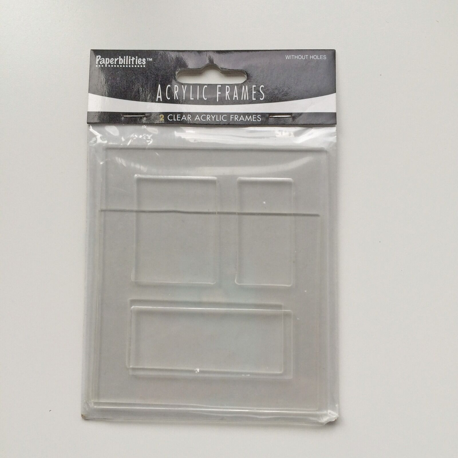 Paperbilities / Paper Bliss Large Clear Acrylic Frames Set of 2 Pcs ...