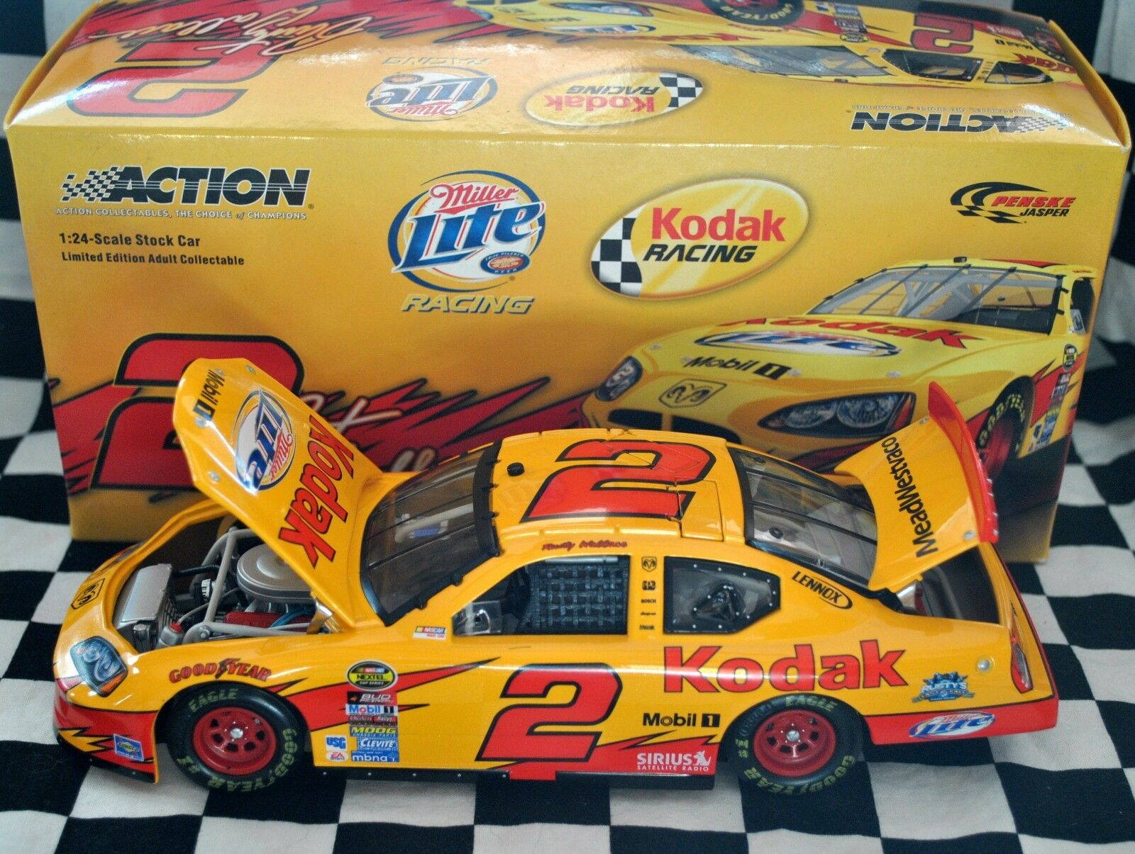 Action Diecast NASCAR Rusty Wallace 2 2005 Dodge Charger Milestones