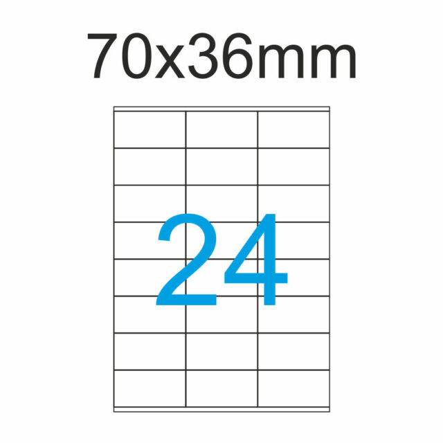 25 Blatt 70x36 Etiketten Weiss 600 Luma Aufkleber 70 x 36 3x8 Aufkleber Bogen