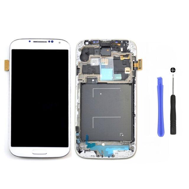 Für Samsung Galaxy S4 LTE GT-I9505 LCD Display + Touchscreen + Rahmen -Weiß