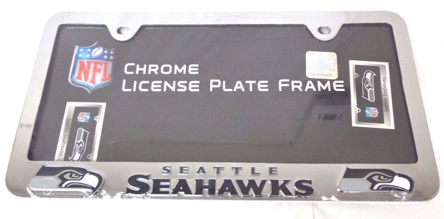 Seattle seahawks official nfl metal license plate frame by picture 2 of 2 jeuxipadfo Choice Image