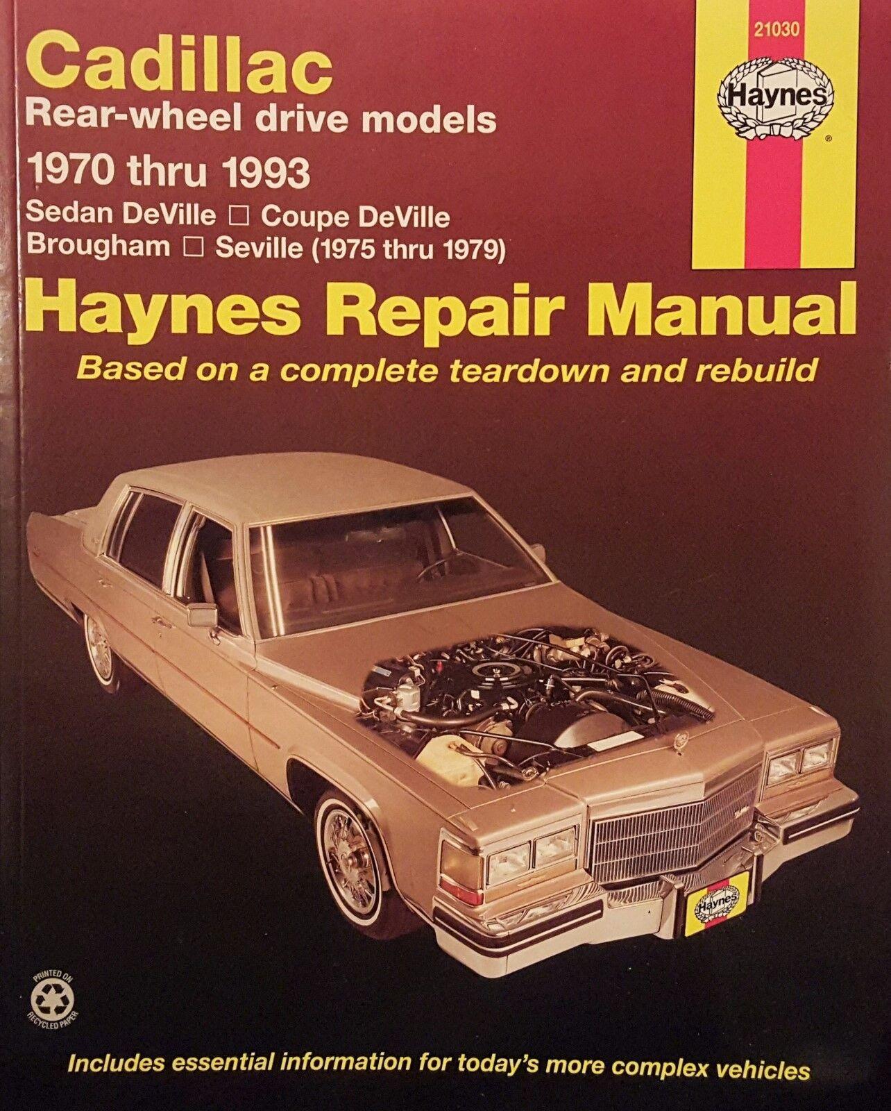 Stock photo. Stock photo; Haynes Publication 21030 Cadillac Rear Wheel  Drive Repair Service Manual ...