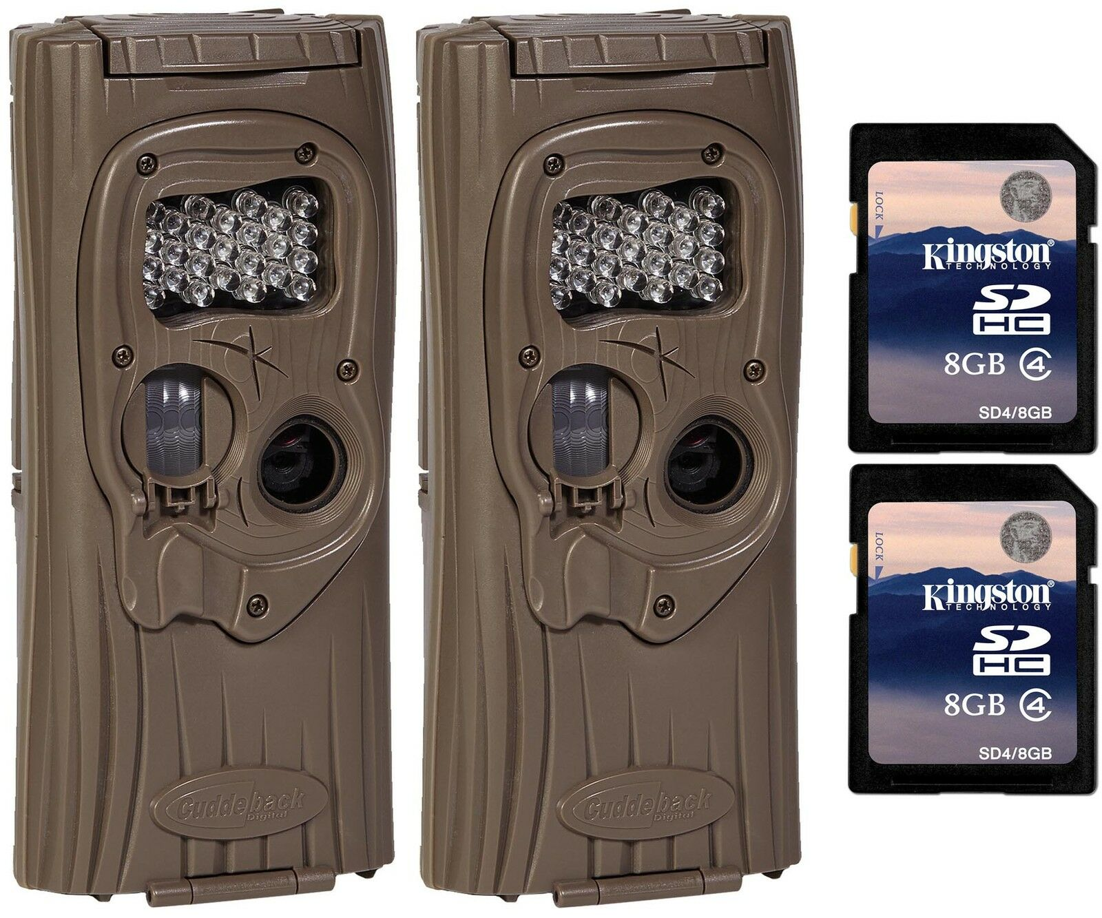 2) Cuddeback F2 IR Plus 1309 Infrared Trail Game Hunting Cameras ...