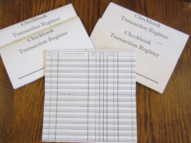 5 checkbook transaction register check book record registers ebay