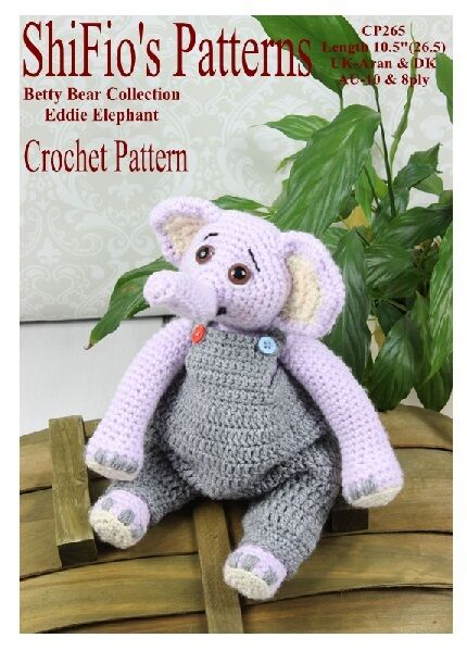 Crochet Pattern For Eddie Elephant Dungarees 265 Not Clothes Ebay
