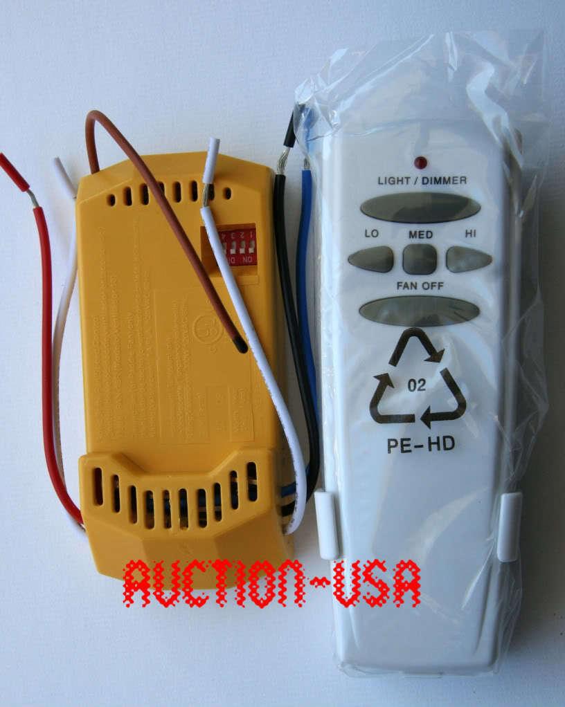 Hunter fan control ebay hampton bay hunter ceiling fan remote control kit for cfl led regular bulbs aloadofball Image collections