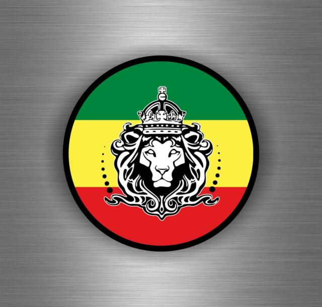 Sticker car decal rasta reggae jah macbook lion of judah one love rastafarai r6