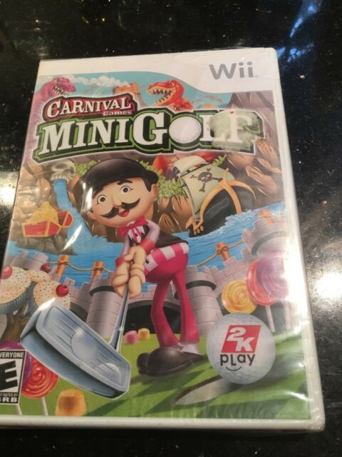 Carnival Games Minigolf - Nintendo Wii Brand New Factory Sealed With Wear