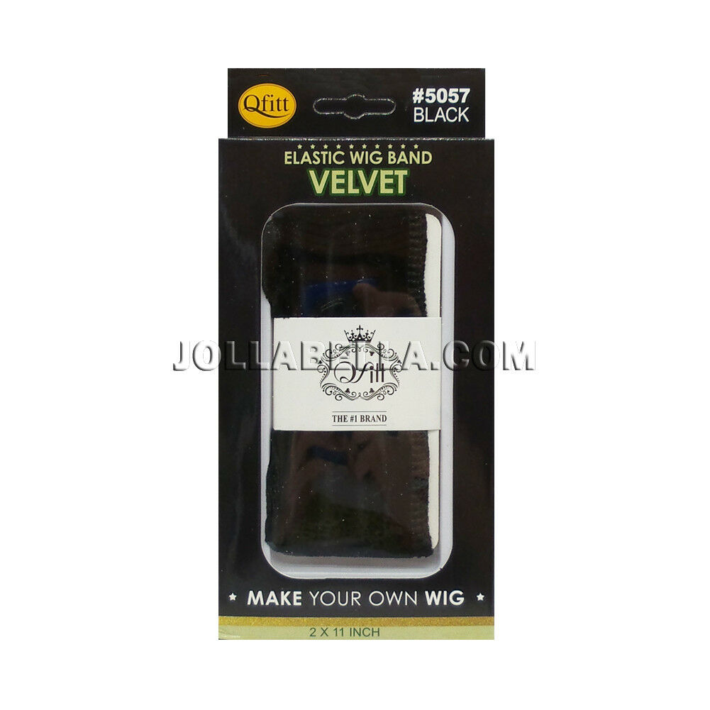 Qfitt Velvet Elastic Wig Band Fasten Hair Extension Supply 2x11 Inch