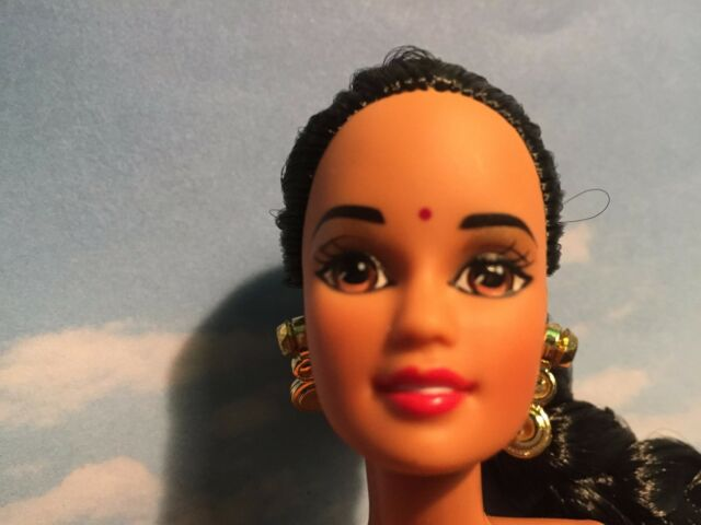 BARBIE DOLL NEW DEBOXED DOTW PRINCESS OF INDIA DOLL OF THE WORLD NUDE OOAK  PLAY