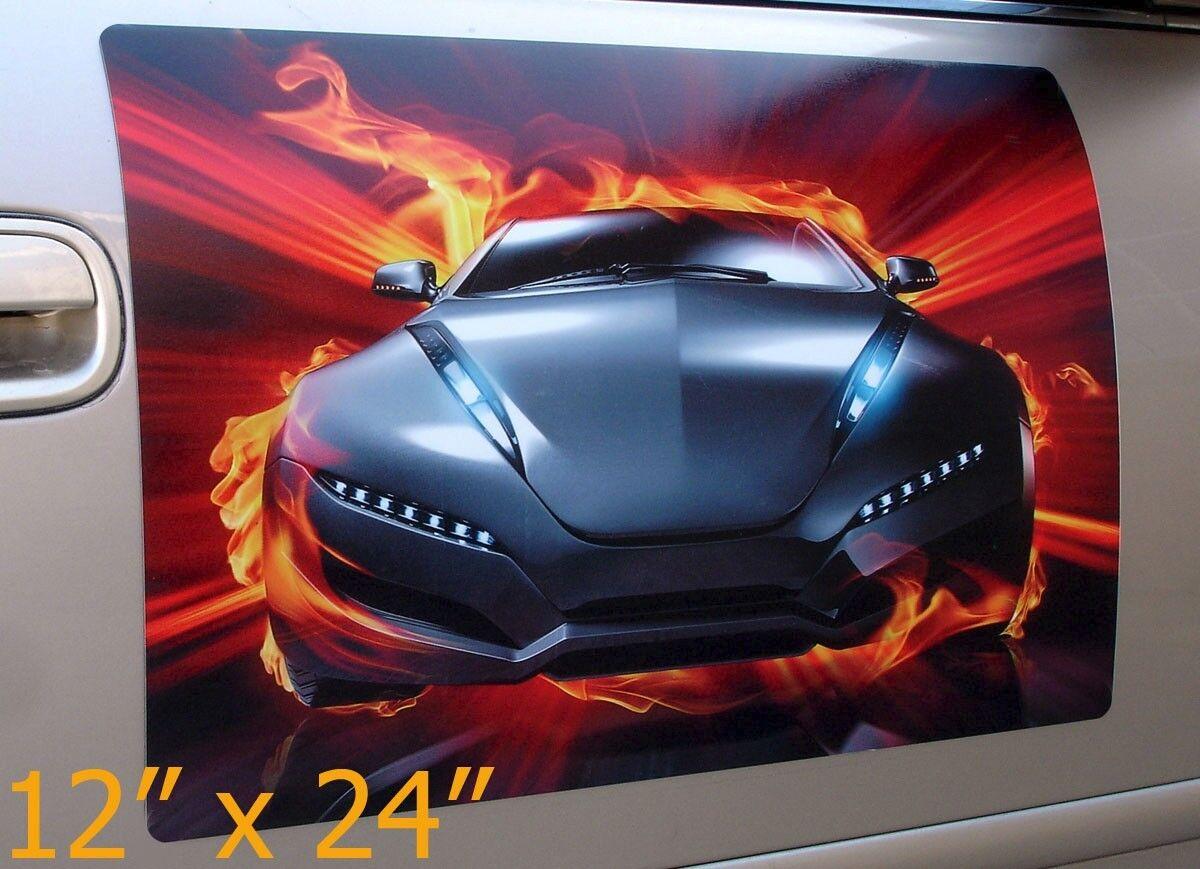 Pcs Pair X Custom Car Magnets Magnetic Signs Full Color - Custom sport car magnets
