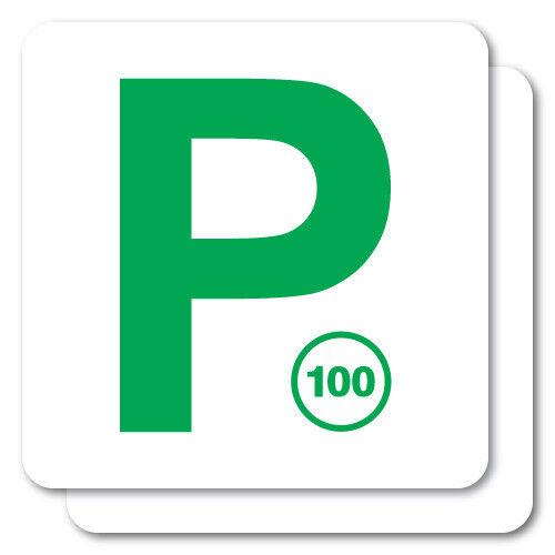 2x p plate green qld jdm sticker decal car 0753en