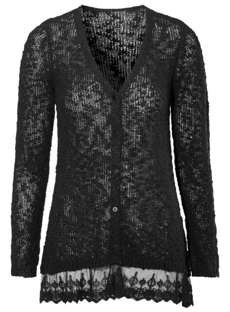 Ladies UK Plus Size 6 - 16 Lace Cardigans in Black Duckegg or ...