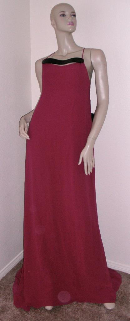 Narciso Rodriguez Fuschia Long Gown Dress 46 | eBay
