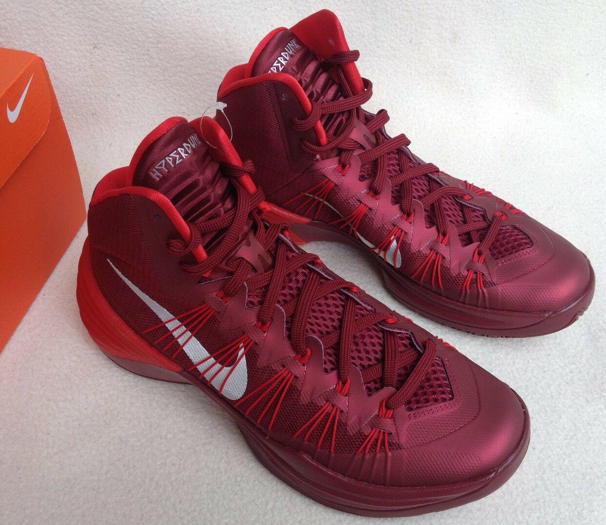Nike Hyperdunk TB 2013 Team 599527-600 Red Basketball Shoes Women's 14 NCAA new