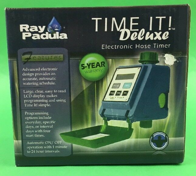 Ray Padula Time It Automatic Electronic Water Garden Hose Lawn Timer ...