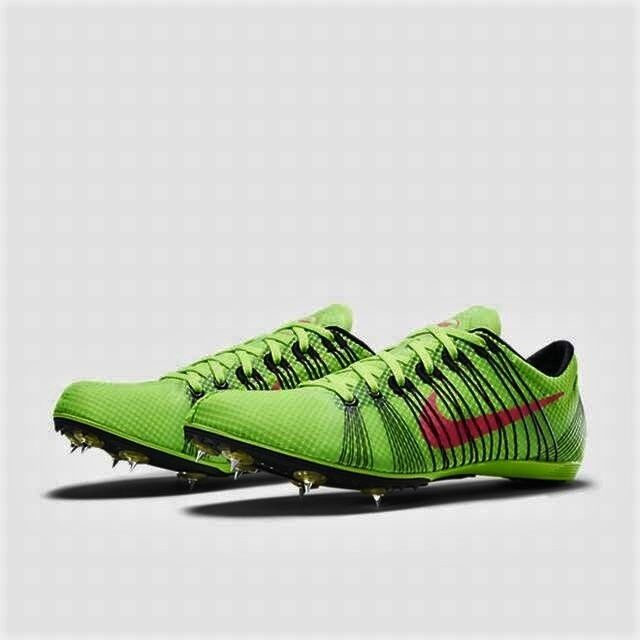Men's Nike Zoom Victory 2 Track Spikes Green Red Black Size 6.5 555365 306  | eBay