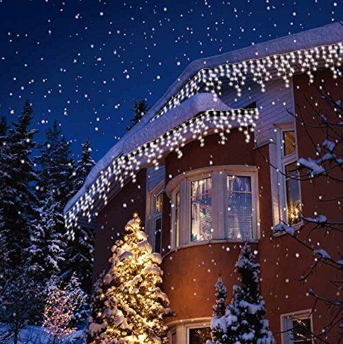 Christmas led white snowing icicle bright party wedding xmas outdoor christmas led white snowing icicle bright party wedding xmas outdoor lights workwithnaturefo