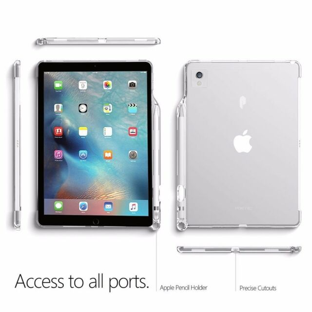 lumos case for apple ipad pro 12 9 flexible soft transparent tpu clear