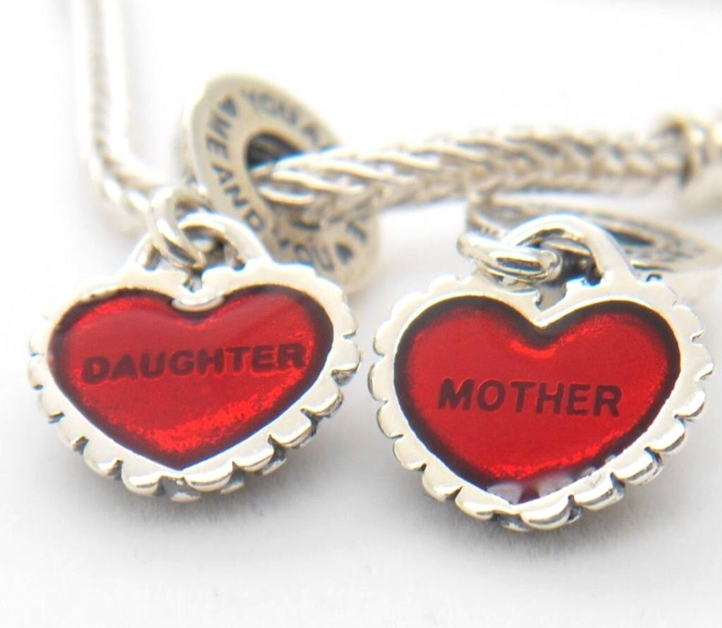Authentic pandora mother daughter pendants piece of my heart charm picture 1 of 2 aloadofball Images