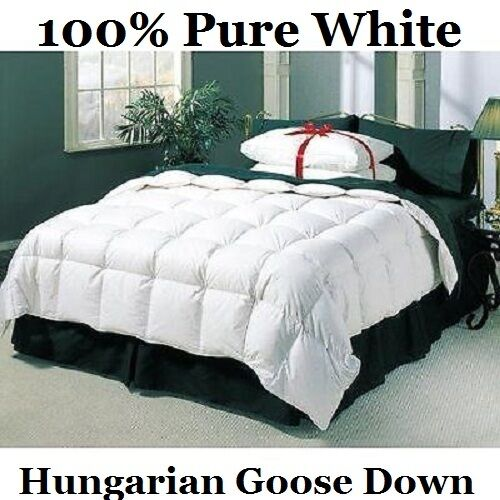 Luxury Super King Size All Season 100 Pure Hungarian Goose Down Duvet Quilt