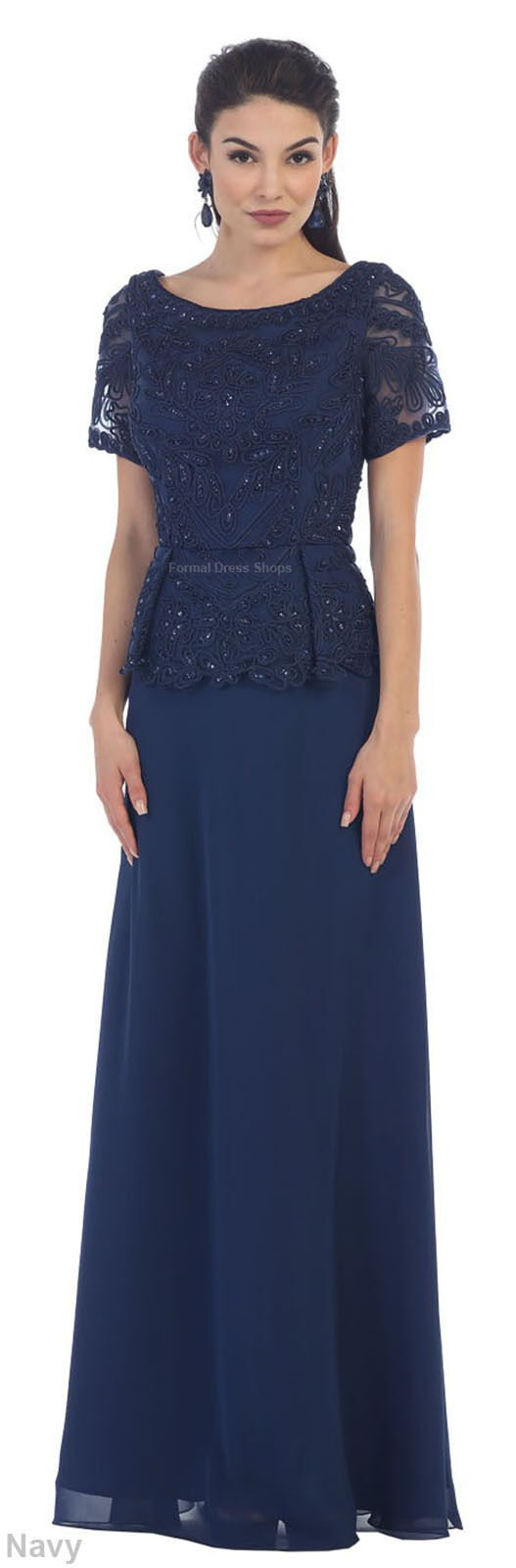 Special Occasion Evening Formal Classy Demure Church Dress Modest
