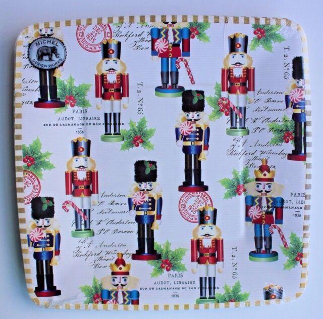 *MICHEL DESIGN WORKS Set of 8 Luncheon/Dessert Paper Plates ~ NUTCRACKER SWEET  sc 1 st  eBay & michel Design Works Set of 8 Luncheon/dessert Paper Plates ...