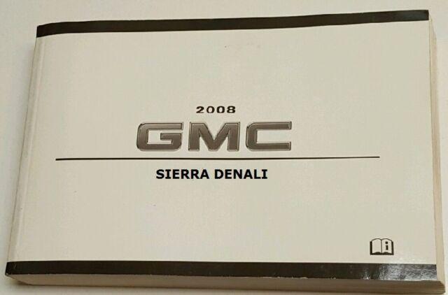 2008 gmc sierra denali owner s owners owner manual 804a ebay rh ebay com 2006 gmc sierra denali owners manual 2008 gmc sierra denali owner's manual
