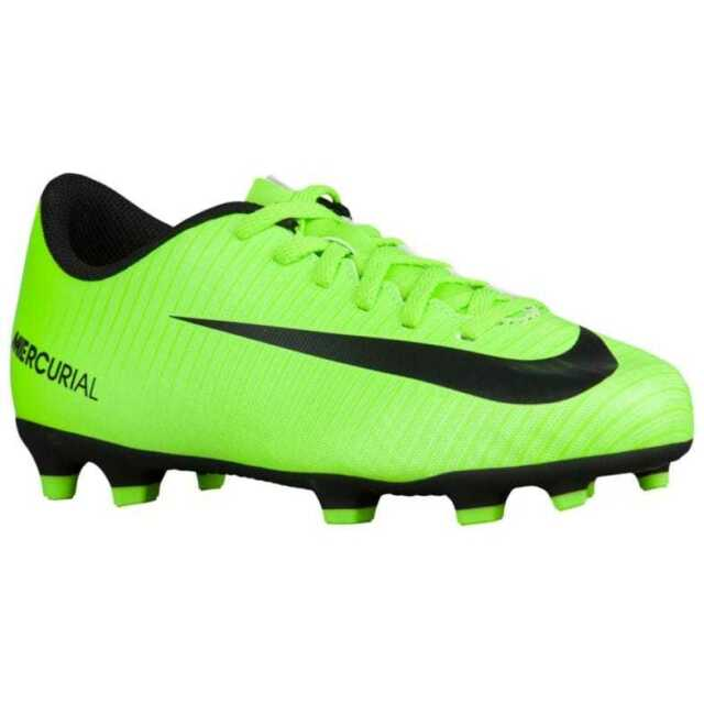 Nike Jr Mercurial Vortex iii FG Youth Soccer Cleats Shoes Neon Green Sz 5.5  NEW!