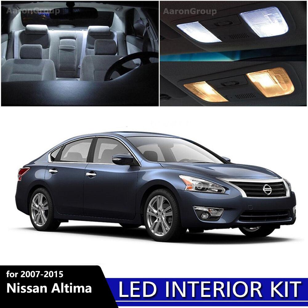 Picture 1 of 4 ...  sc 1 st  eBay & 12pcs White Interior LED Light Package Kit for 2007-2015 Nissan ... azcodes.com