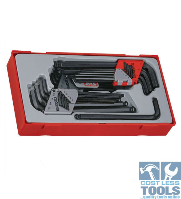 Teng Tools 28 Piece Hex Key Metric, AF and Torx Keys TTHT28