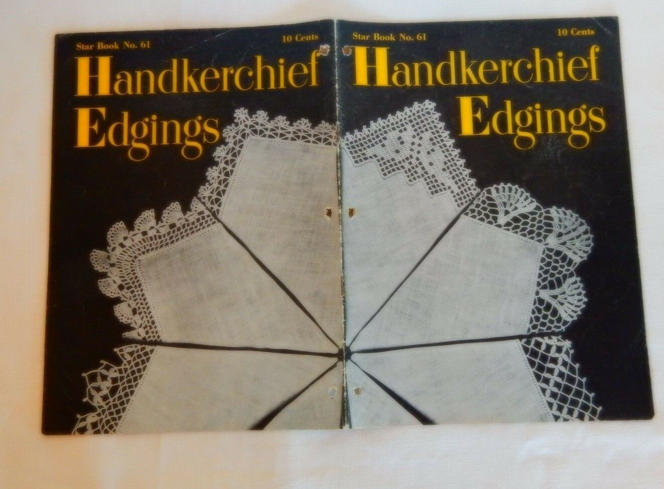 Handkerchief edging crochet patterns vintage 1948 star book 61 ebay picture 1 of 1 bankloansurffo Image collections