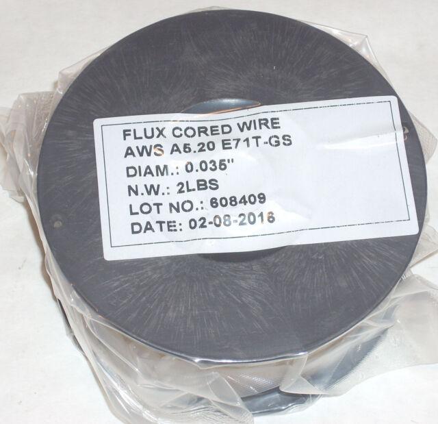 4lbs Flux Core E71t-gs Gasless Welding Wire .035 Diameter (2) 2lb ...