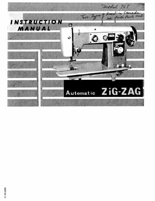 White W40 Sewing Machineembroideryserger Owners Manual EBay Impressive Ebay White Sewing Machine