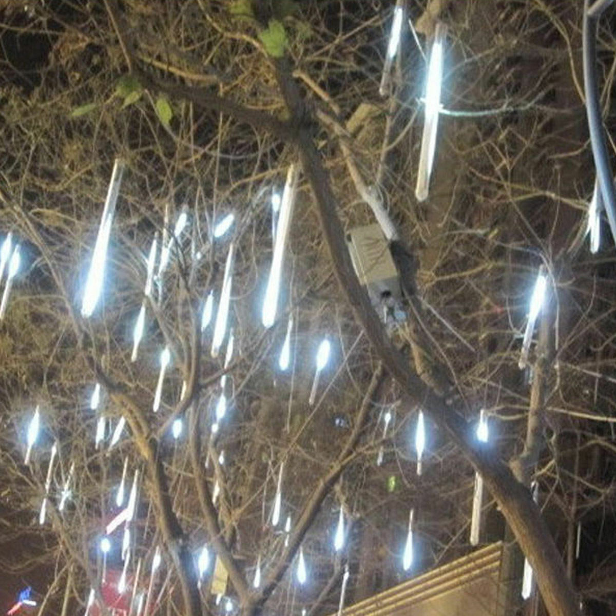 30cm 144 led lights 8 tubes meteor shower rain snowfall tree garden outdoor al04 - Snowfall Christmas Lights
