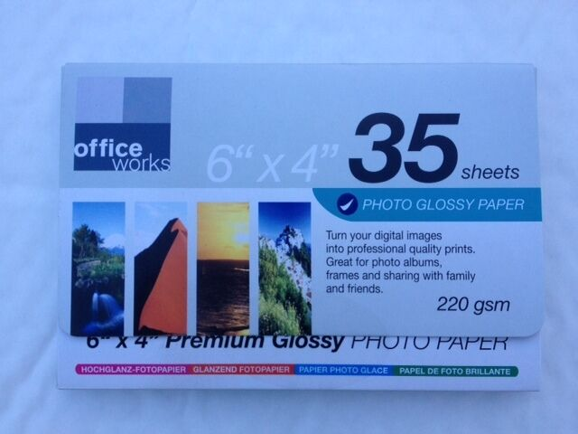Office Works 70 Sheets Premium Photo Glossy Paper 6\